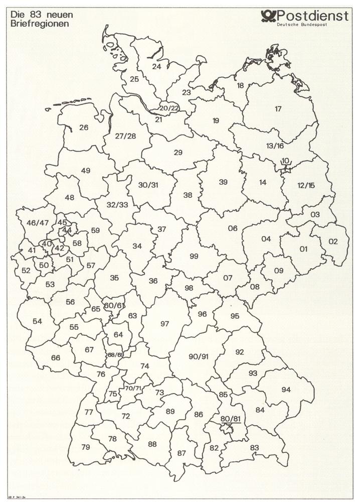 Postleitzahlen deutschland