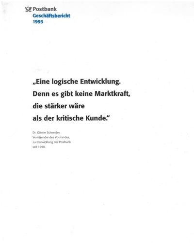 Post Und Telekommunikation Postbank 1993 Juli Bis Dezember